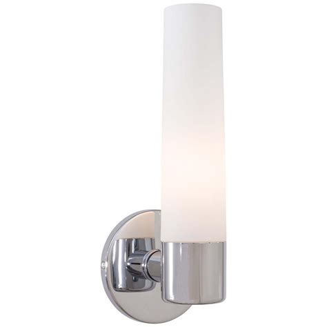 Chrome Wall Sconce Filament Design Paula 1 Light Chrome Sconce With Matte Opal And Clear Glass Cli Jb1908 1s The