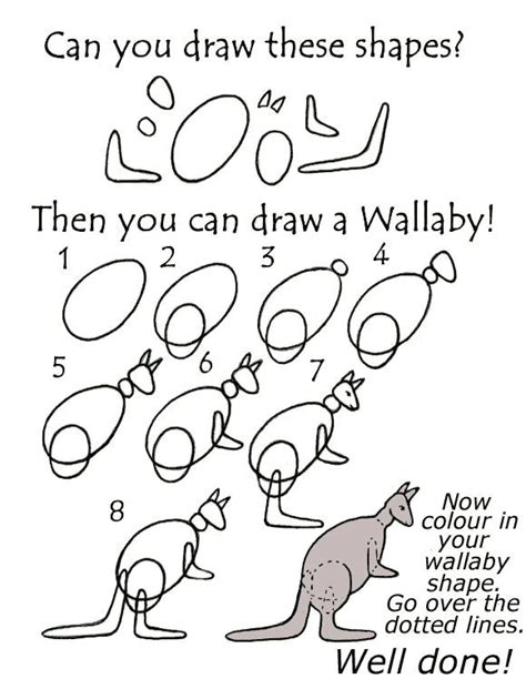 wallaby tutorial easy tutorial on how to draw a wallaby easy how to draw