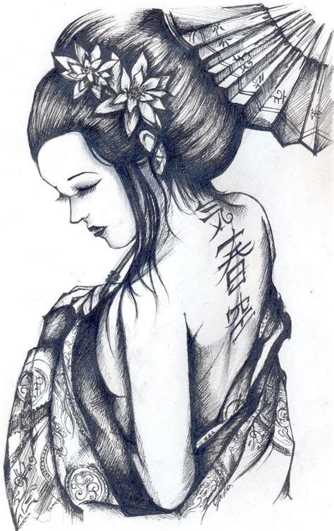 japanese geisha drawings 1000 images about gueixa on pinterest japanese geisha