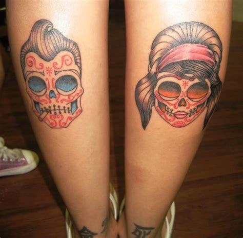 tattoo old school perna caveiras mexicanas never let me go