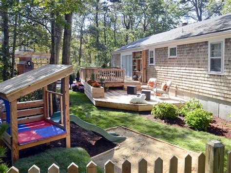 two level backyard landscaping ideas photo page hgtv