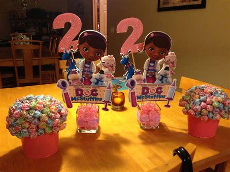 doc mcstuffins centerpieces child birthday party ideas