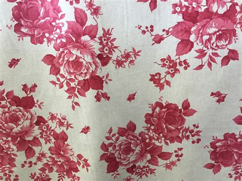 red rose upholstery red faded rose floral fabric 280cm wide the lshade barn