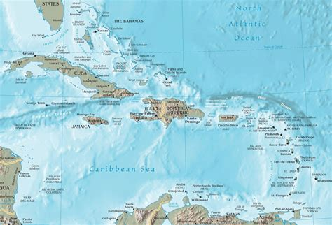 caribbean sea map map of the caribbean sea and islands newhairstylesformen2014