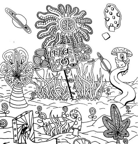 trippy elephant coloring page land of peace trippy coloring pages batch coloring