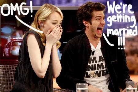 emma stone married emma stone andrew garfield plan to have a wedding and a