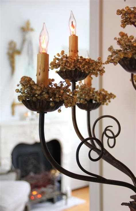 fall chandelier decorations autumn chandeliers and candle rings on