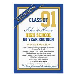 formal high school reunion 13 cm x 18 cm invitation card zazzle