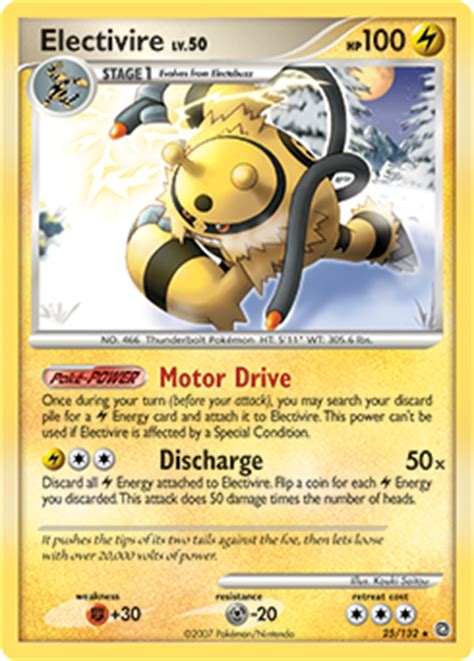 Card Electabuzz Electivire electivire pearl secret wonders tcg card database