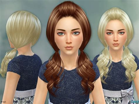sims 4 kids hair cc cazy s ellie hairstyle set