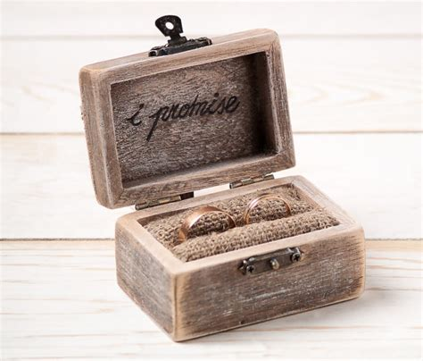 wedding ring box ring holder pillow bearer box with hearts