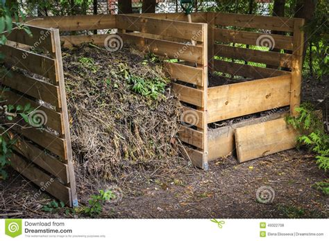 backyard compost backyard compost bins stock photo image 49322708