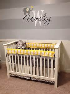 Round Wall Decor Wesley S Yellow And Gray Elephant Nursery Project Nursery