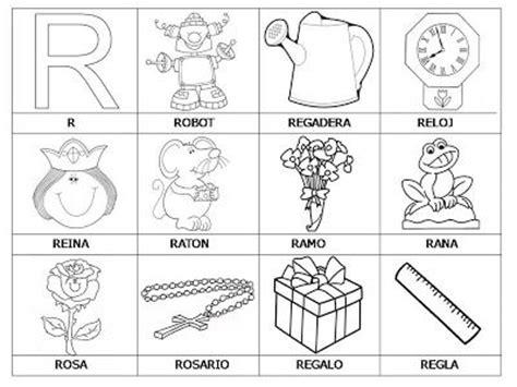 imagenes de cosas que empiecen con letra r laminas con dibujos para aprender palabras y colorear con