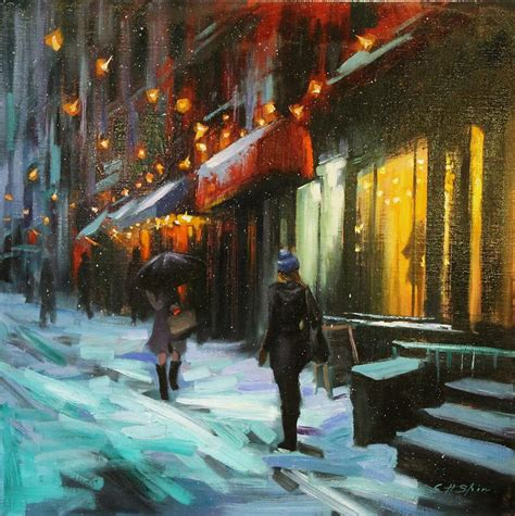 paint nite nyc march magical in new york painting by chin h shin
