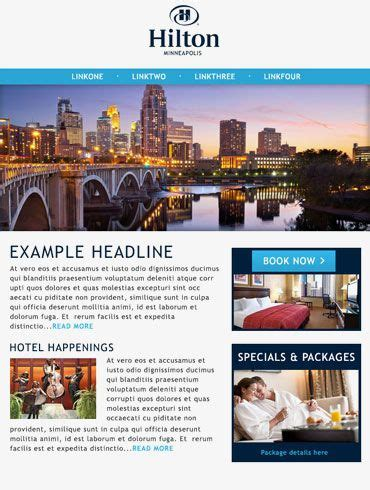 hotel newsletter layout 16 best hotel spa email newsletters images on pinterest