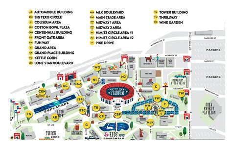 texas state fair map thrifty thursdays state fair of texas