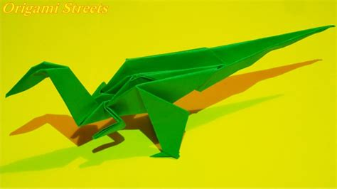 How To Make Dinosaurs Out Of Paper - how to make a dinosaur out of paper origami dinosaur