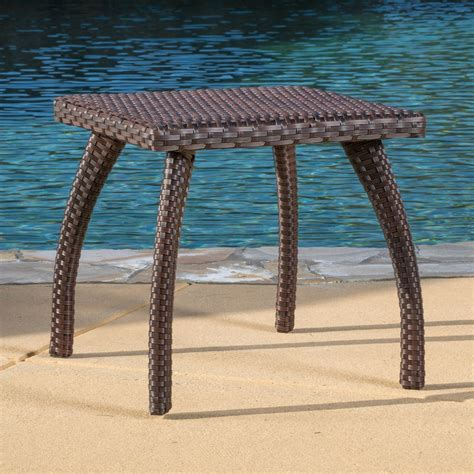 wicker accent tables woodridge outdoor brown wicker accent table great deal