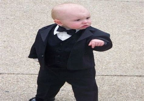 Baby In Tuxedo Meme - 18 funniest quot baby godfather quot memes on the internet socawlege