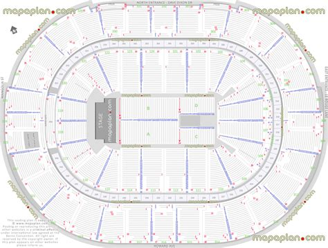 layout plan number smoothie king center arena detailed seat row numbers