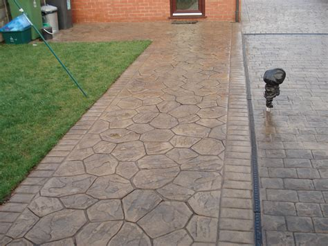 what is pattern imprinted concrete random stone styles pattern imprinted concrete driveways