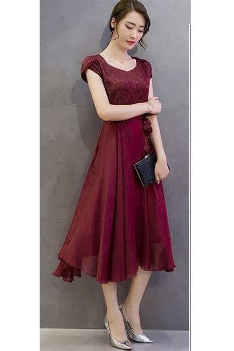 Dress Top Bow kettymore silk printed top bow waist prom dress