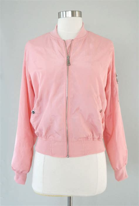 pink ladies bomber jacket  dust pink sincerely sweet