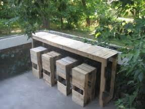 Garden Bar Table Pallet Furniture Uk