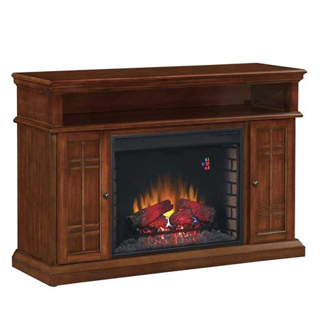 hton bay 55 in media console electric fireplace