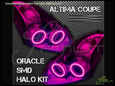 pink nissan altima oracle 10 13 nissan altima 2dr led colorshift halo rings