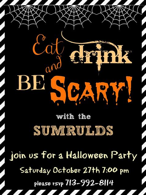 halloween party invitations templates festival collections