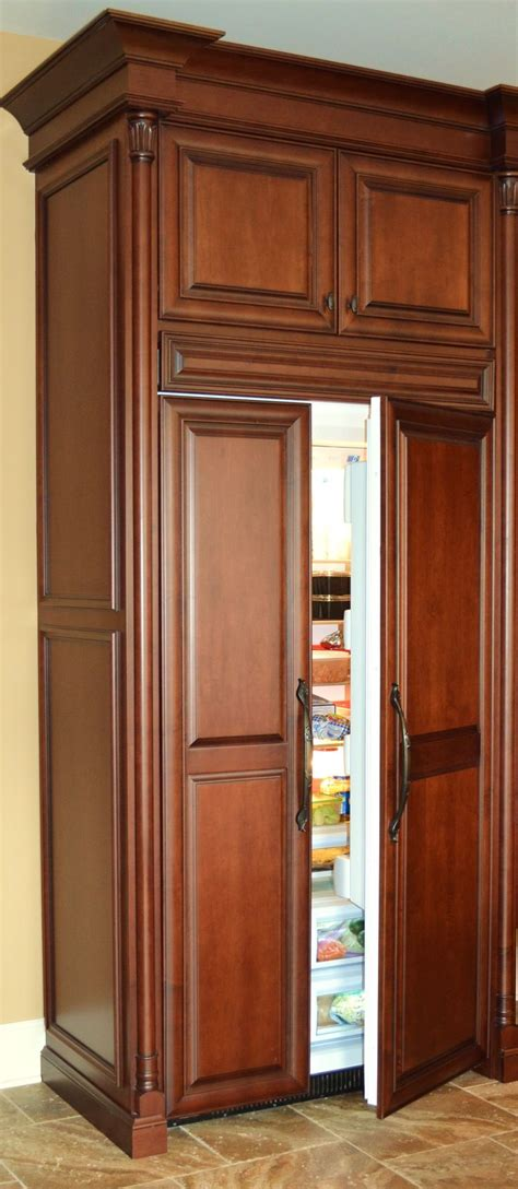 refrigerator panels wood panel refrigerator kitchen charm