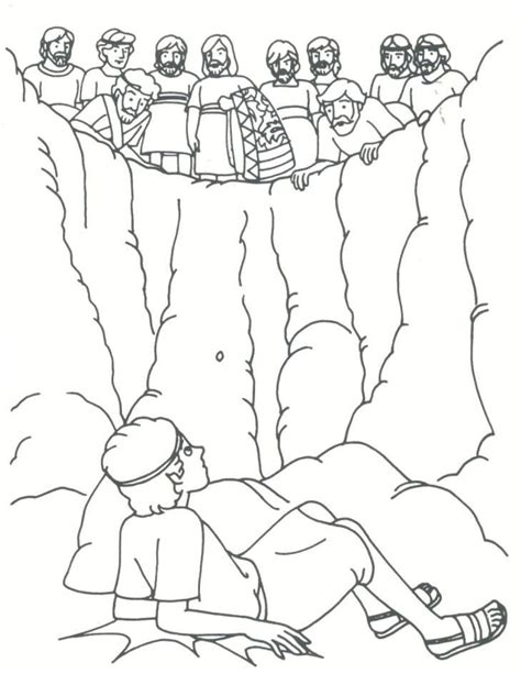 joseph sold into slavery coloring pages coloring home