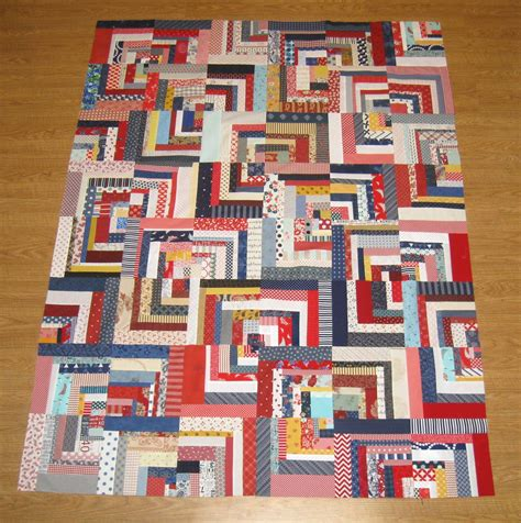 log cabin quilt happy quilting scrappy log cabin quilt top