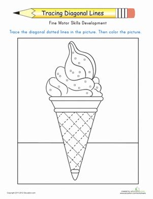 diagonal line pattern generator tracing diagonal lines complete the ice cream cone