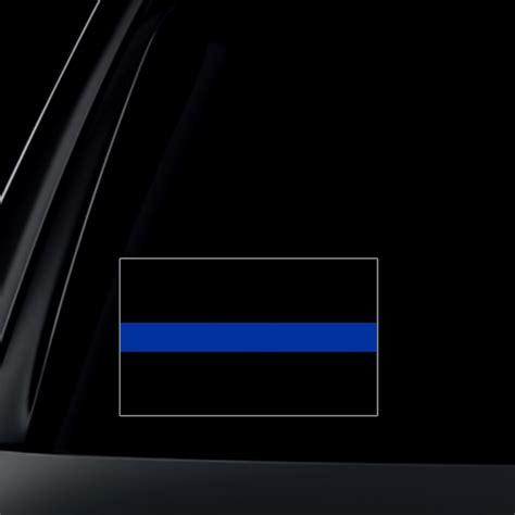 Thin Blue Line Car Sticker