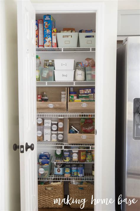 kitchen closet organization ideas 20 small pantry organization ideas and makeovers the happy housie