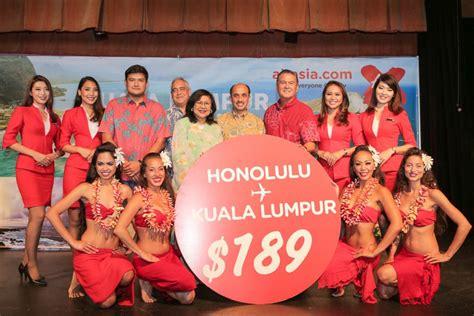 airasia honolulu airasia x marks honolulu inaugural flight economy traveller
