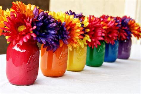 centerpieces craft diy painted jar centerpiece