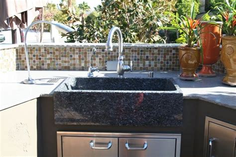outdoor kitchen with sink outdoor kitchen sink stone age creations