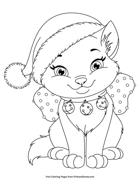 printable christmas kittens 294 best coloring pages images on pinterest