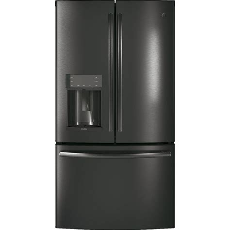 ge 27 8 cu ft french door refrigerator in slate pfd28kblts ge profile 36 quot 27 8 cu ft french door