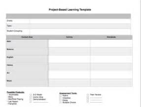 project based learning lesson plan template project based learning template curriculum resources