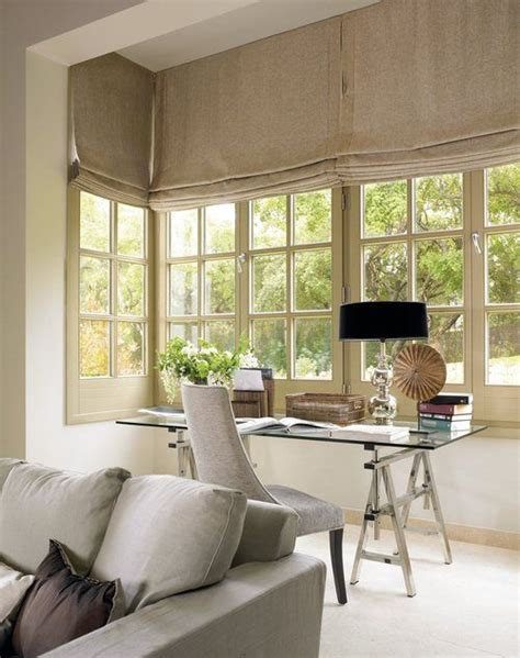 Office Window Treatments Office Desk Area Window Treatments Home Ideas