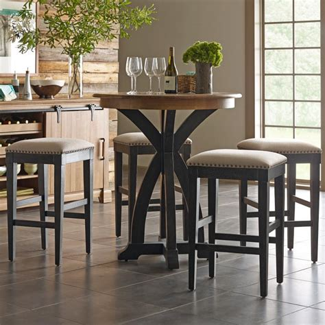 Bistro Table Bar Stools by Furniture Ridge Transitional Five