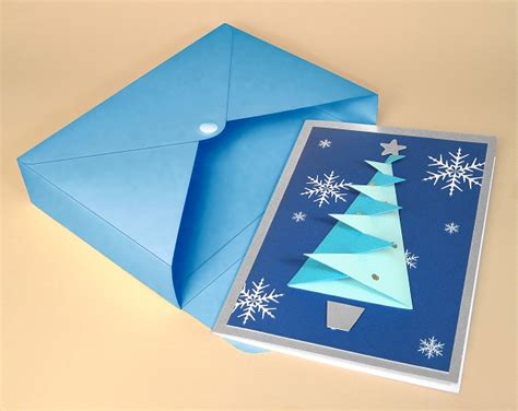 box greeting card template card templates for 3d tree greeting card