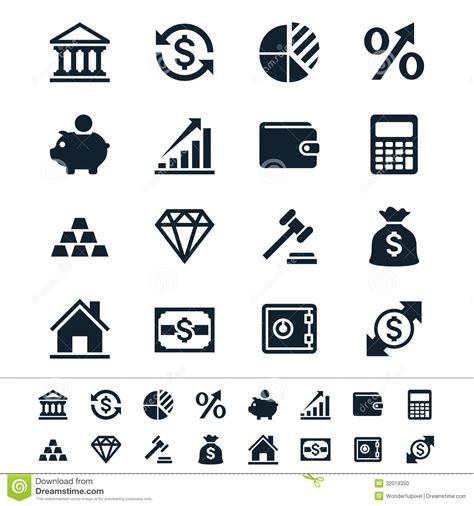 financial investment icons stock photo image 32019350