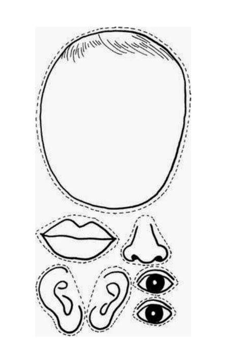 partes de la cara dibujo para colorear ficha partes de la cara