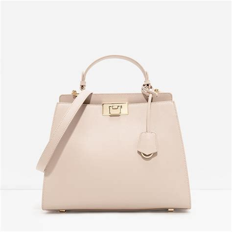 Charles Keith Shopper 8007 push lock structured bag shopperboard